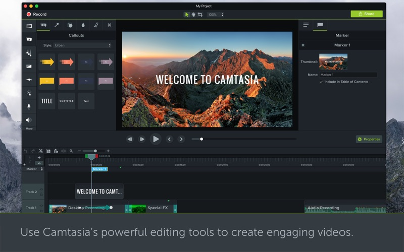 Camtasia 3 Screenshots