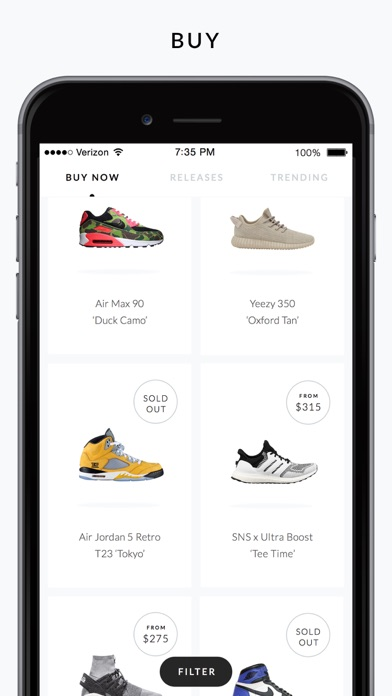 Goat Shop Sneakers App Screenshots