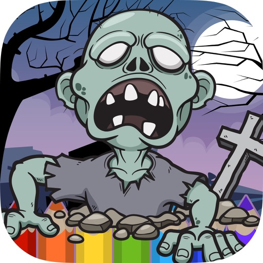 Zombie Coloring Book - Painting Game for Kids