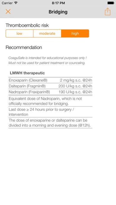 CoaguSafe - Coagulation and invasive procedures Screenshots