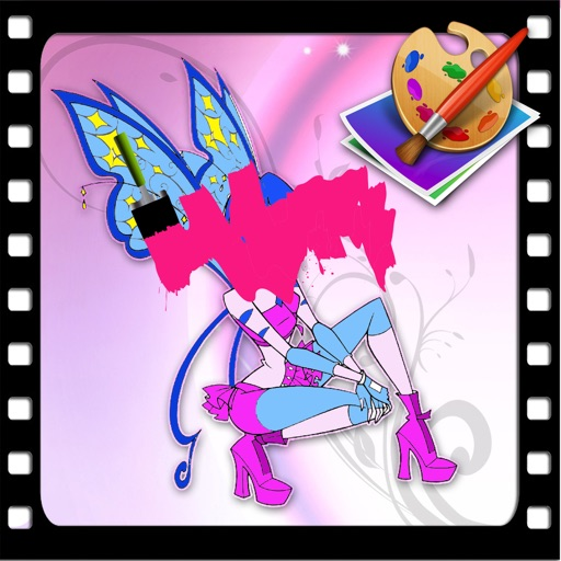 Coloring Page For Kids Game Winx Club Version iOS App