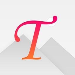 Type Lite - text on image, custom fonts & blending