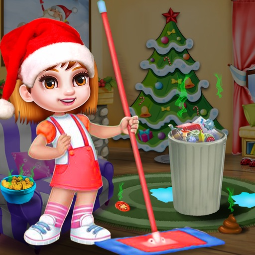 Christmas Princess Doll House Cleaning Games iOS App
