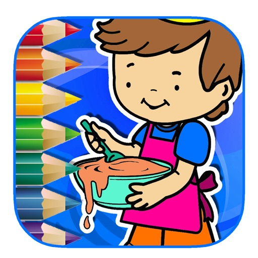 Coloring Page Game Cooking Version iOS App