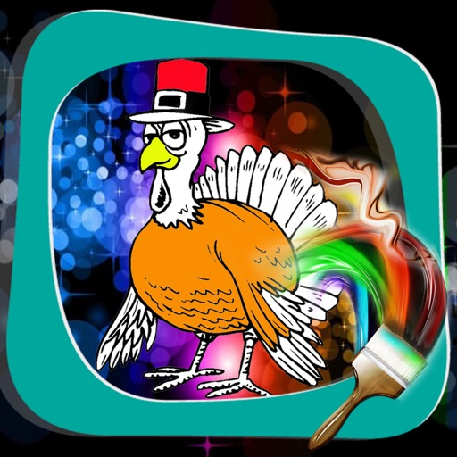 Book Colouring For Thanksgiving Turkey Version iOS App