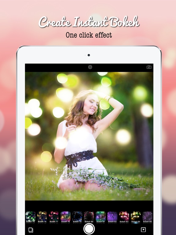 Screenshot #1 for Blur Bokeh - Light Photo Effect Background