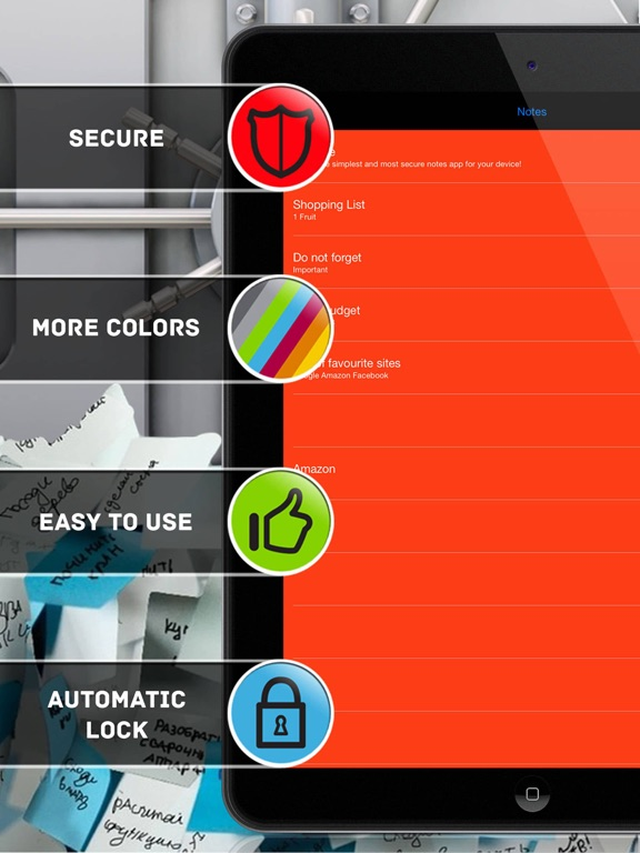 Secure Notes Professional Screenshots