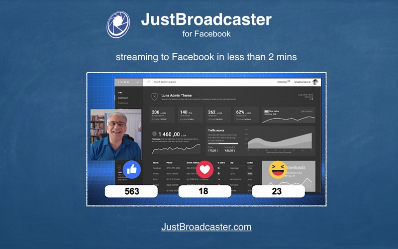 JustBroadcaster for Facebook Screenshots