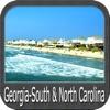 Boating Georgia South to North Carolina GPS Map