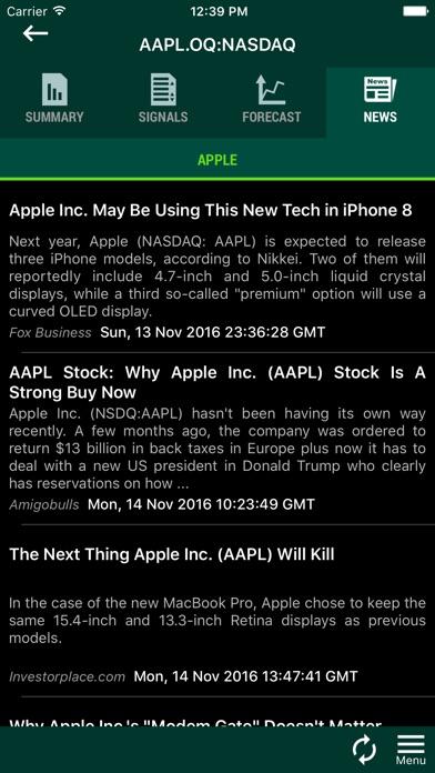 Forecastica - Stocks Screener Screenshots