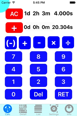 TimeDeCalc screenshot 2