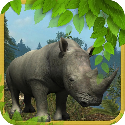 Rhinoceros 3D Simulator-Wild Animal Hunting Life iOS App