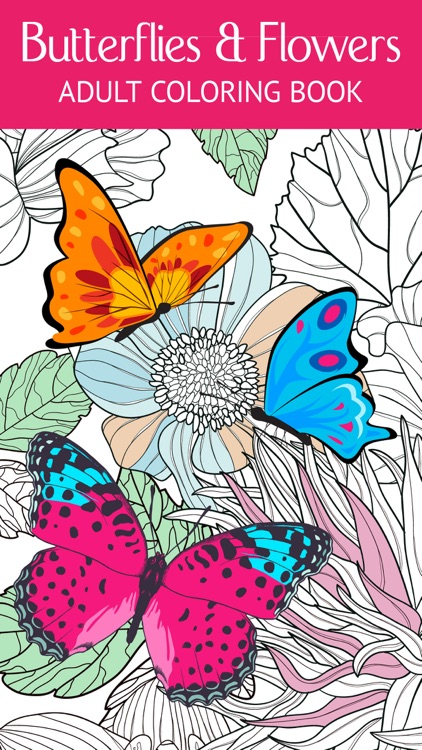 Butterfly & Flower Art Therapy: Free Fun Coloring Games for Adults ...