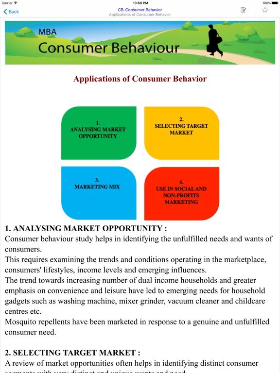 the application of consumer behavior in