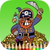 The Pirate Coloring Book HD for Children: Learn to paint and color a pirate ship and more