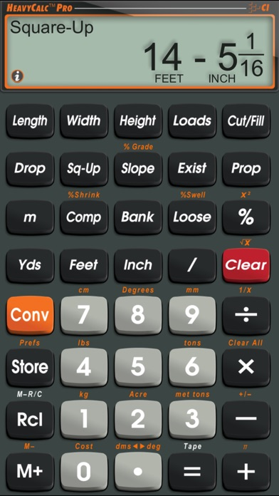 heavycalc pro feet inch cubic yard calculator app insight. Black Bedroom Furniture Sets. Home Design Ideas