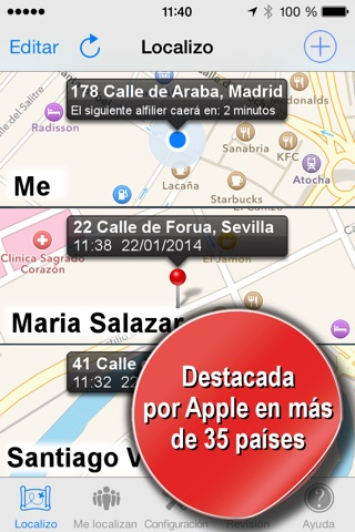 Phone Tracker for iPhones (Track people with GPS) screenshot 1