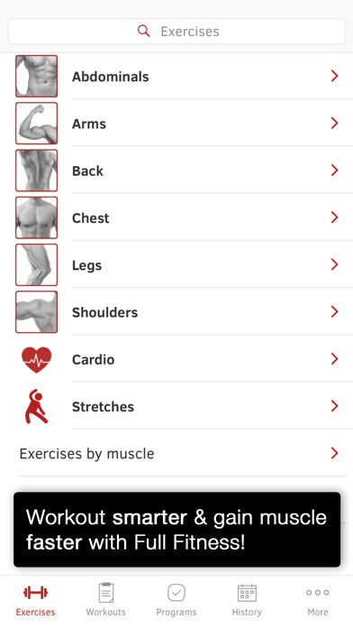Full Fitness : Exercise Workout Trainer screenshot 1