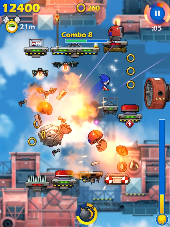Screenshot #1 for Sonic Jump Fever
