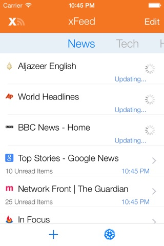 xFeed RSS Reader screenshot 2
