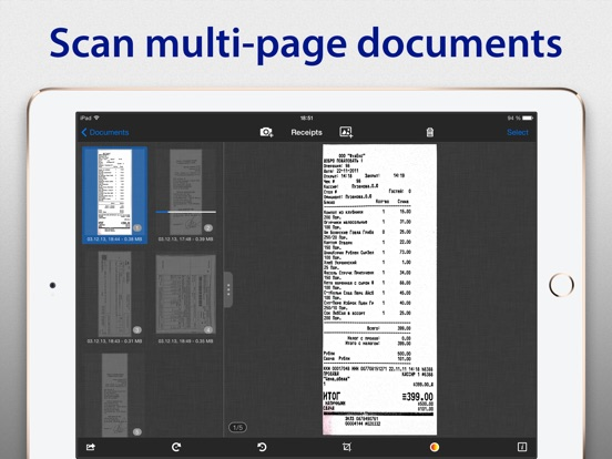 SharpScan Pro + OCR: scan documents to clean PDF Screenshot