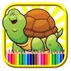 Magic Turtles Kungfu Coloring Book Free Paint Game kungfu shape