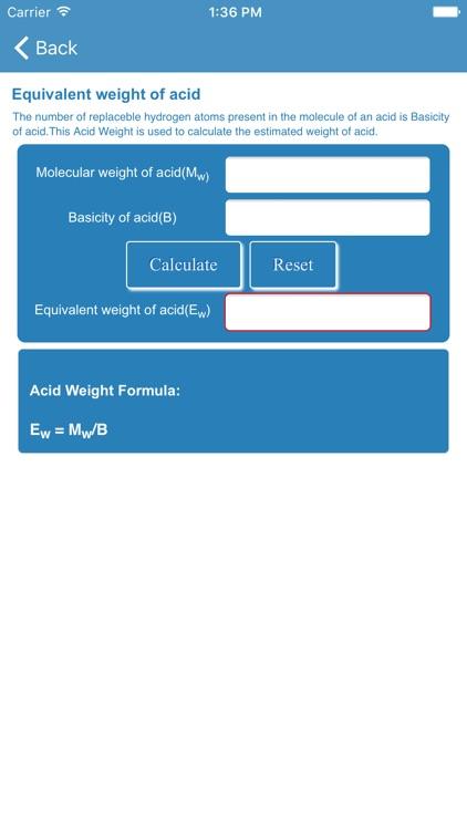 Chemistry Calculator Formulas Periodic Table By Kamal Nasir