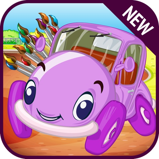 Kids Rainbow Car Coloring iOS App