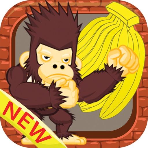King kong eat banana jungle games for kids iOS App