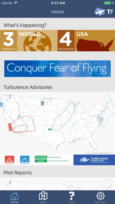 Turbulence Forecast On The App Store - Us aviation turbulence map