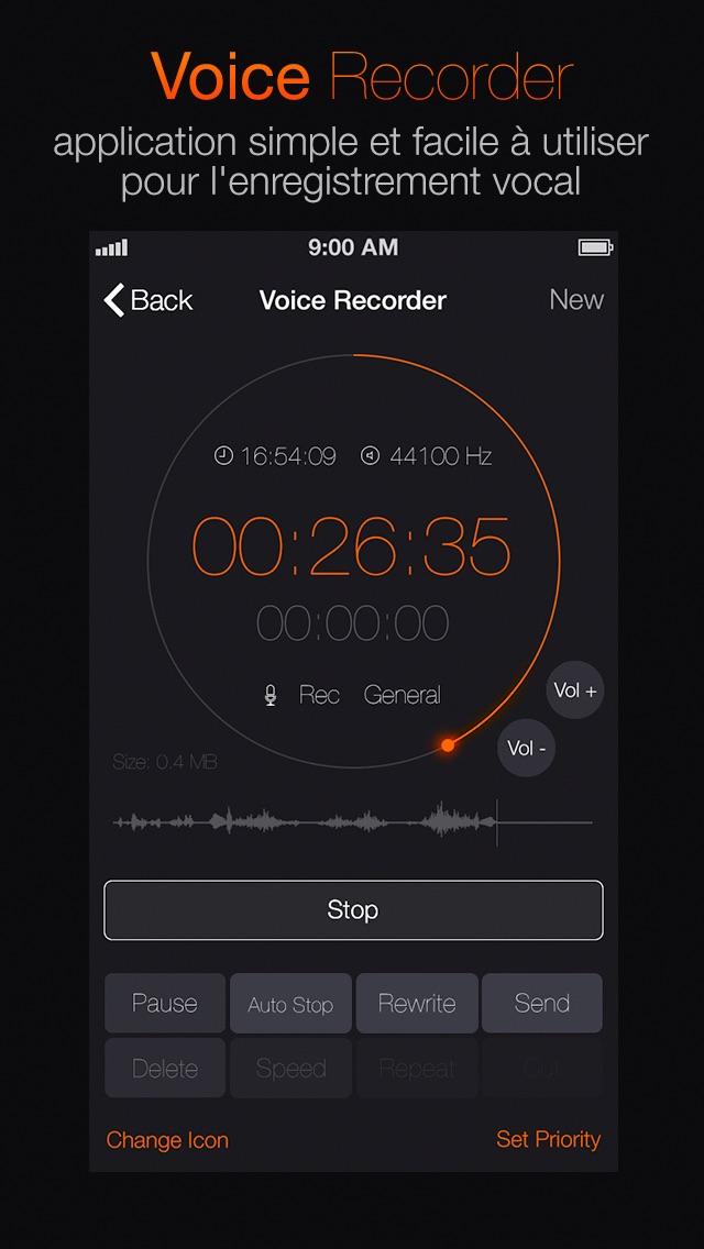 Screenshot Enregistreur vocal Pro