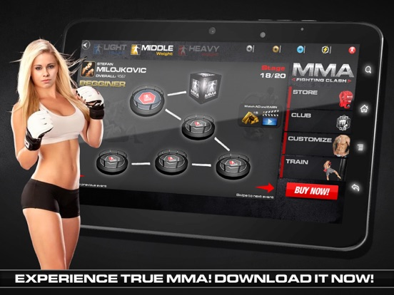 MMA Fighting Clash на iPad