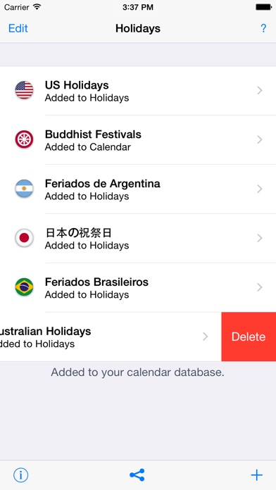 Holidays 2017 edition on the app store iphone screenshot 5 sciox Gallery