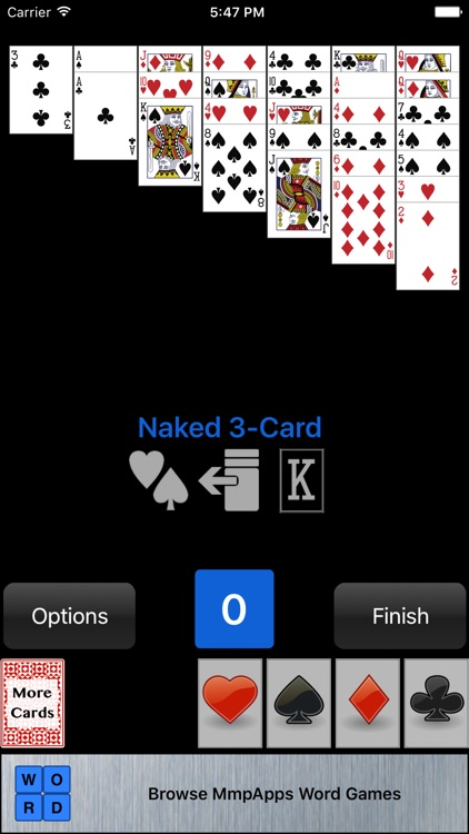 solitaire card games Naked