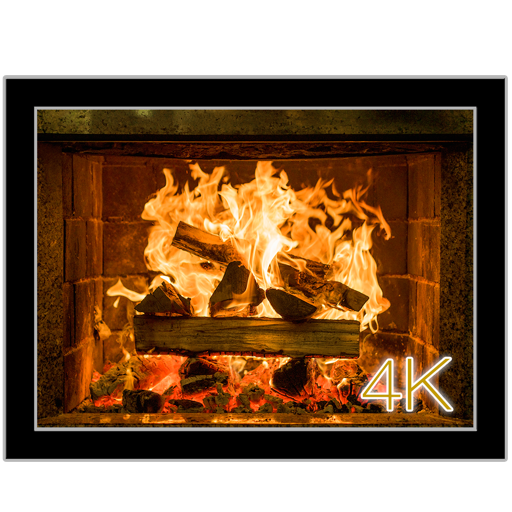 Fireplace 4K - Ultra HD Video + Audio Wallpaper