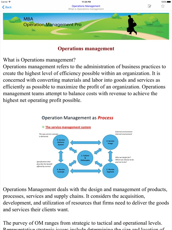 mba operational management