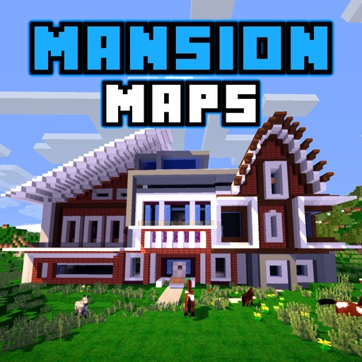 Mansion maps minemaps for minecraft pe pro by doeng kui yue for Modern house minecraft pe 0 12 1