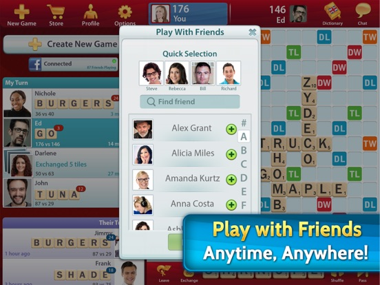 SCRABBLE Premium for iPad Screenshots
