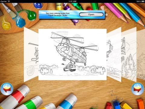 Вертолеты - Раскраска screenshot 3
