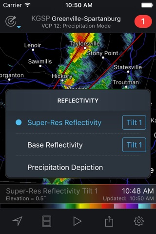 RadarScope screenshot 2