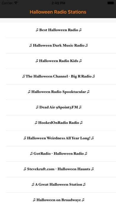 iphone screenshot 2 - Kids Halloween Radio