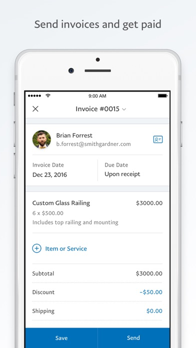 Paypal Business: Send Invoices On The App Store