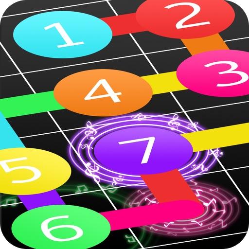 Magic Line Music Best Puzzle Game 2016 Brain Train iOS App