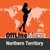 Northern Territory Offline Map and Travel Trip map of northern india