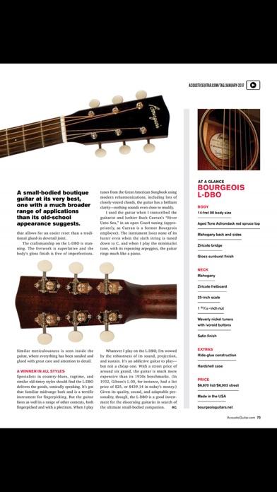 Acoustic Guitar Magazine review screenshots