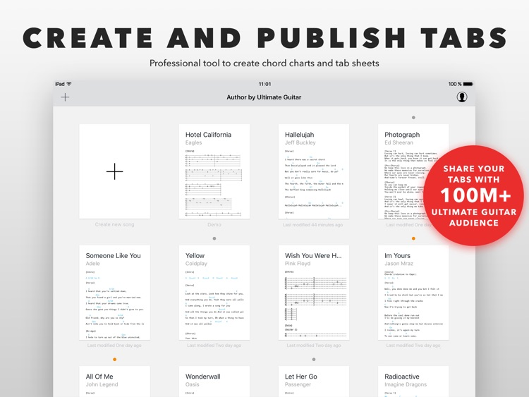 Author Create And Edit Tabs By Ultimate Guitar