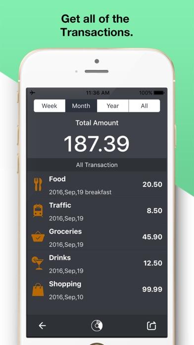 Screenshot von Expense Tracker OK3