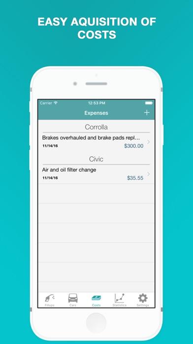 Fuel - Fuel Cost Calculator & MPG, Mileage Tracker Screenshot