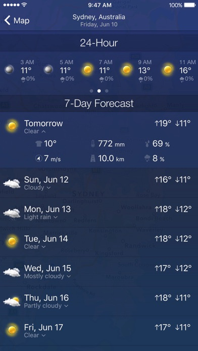 Weather Radar: Forecast Screenshots