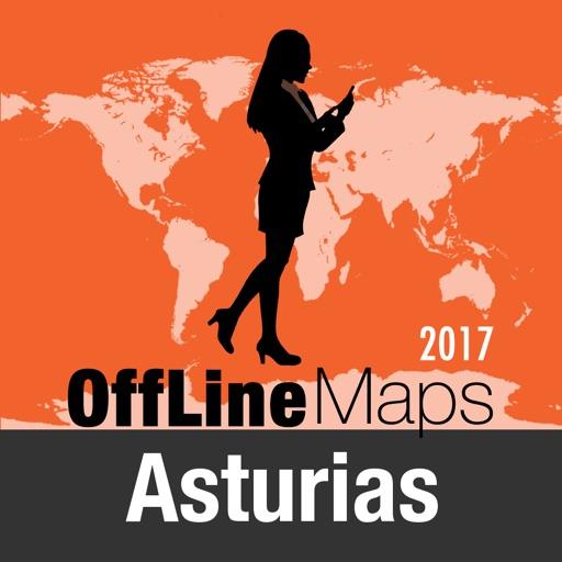 Asturie Mappa Offline e Guida Turistica